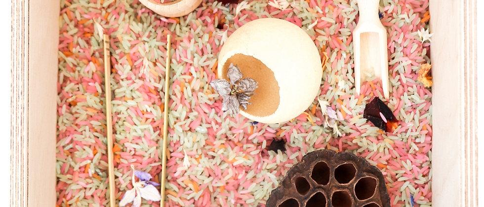 Sensory Grains Activity Box - Floral
