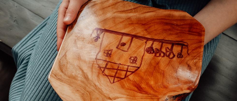 Wooden Writing Board - Dry Wipe