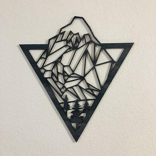 Mini cuadro Montaña en Triángulo