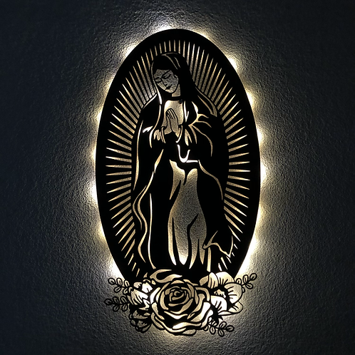 Virgen de Guadalupe con luz