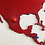 Thumbnail: Wooden Travel Map World - Red