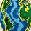 Thumbnail: Cuadro Mundo 3D Multicapas