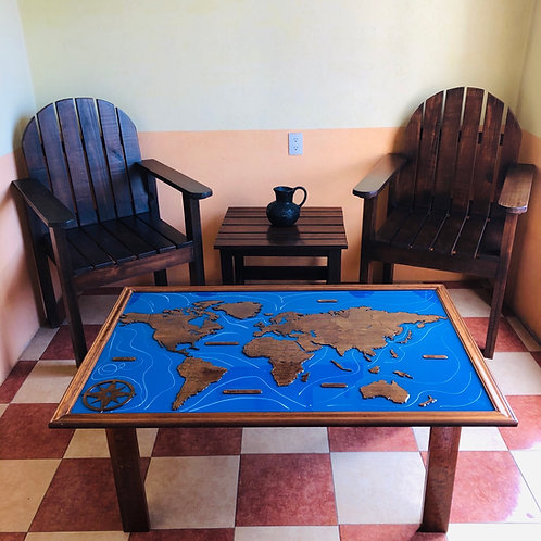 Wooden Travel Table - Roble