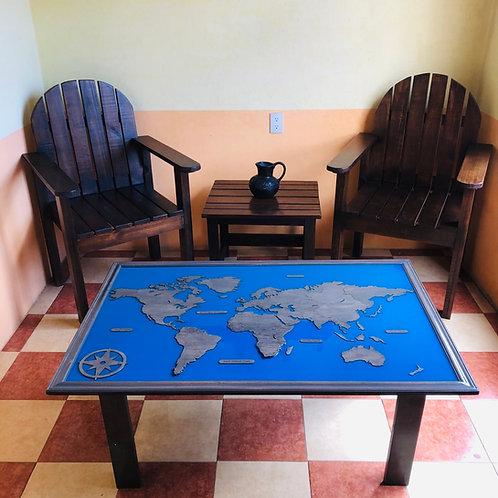 Wooden Travel Table - Gris Titanio
