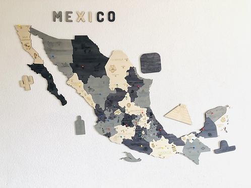 Wooden TM Pueblos Mágicos México con Dibujos - Grande - Elegance