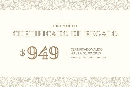 Certificado 949 MXN
