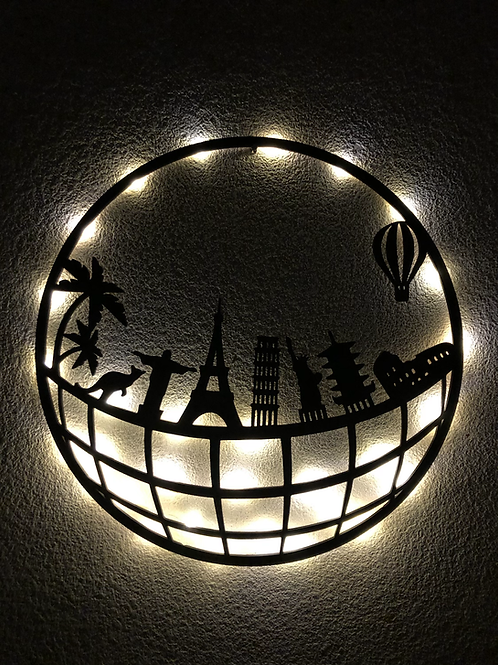 Símbolos del Mundo con led