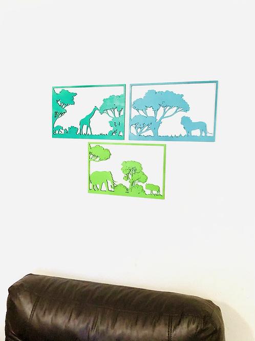 Set Selva 3 cuadros