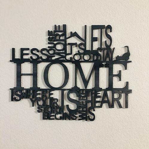 Mini cuadro Home