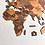 Thumbnail: Wooden Travel Map World - Tricolor Retro