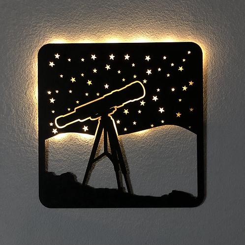 Telescopio con luz