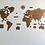 Thumbnail: Wooden Travel Map World - Nogal