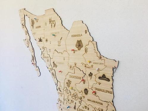 2 Wooden TM Pueblos Mágicos México