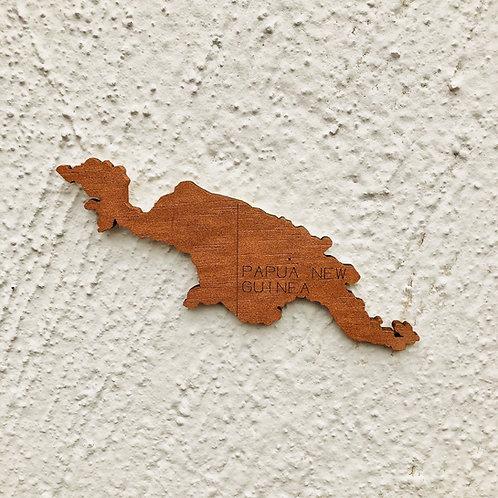 Wooden Travel Map World Superstar Copper