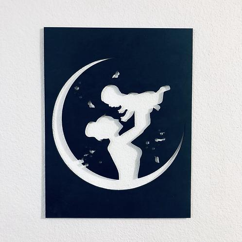 Mini cuadro Mamá e Hijo