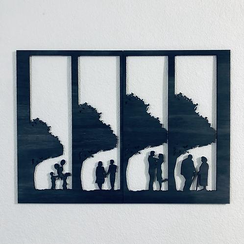 Mini cuadro A Través de los Años 57x38