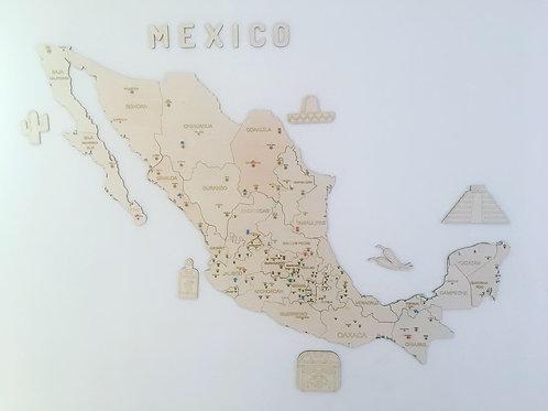 Wooden TM Pueblos Mágicos México Sin Dibujos- Grande