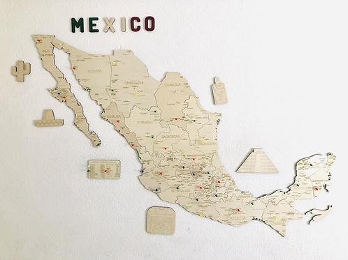 Wooden TM México 4 en 1