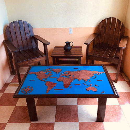 Wooden Travel Table - Caoba