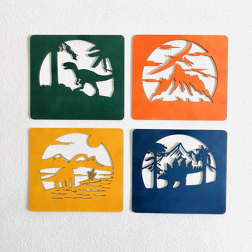 Set Dino 4 cuadros