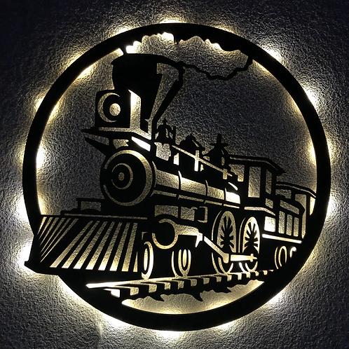 Retro Tren con luz led