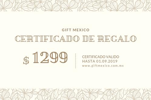 Certificado 1299 MXN