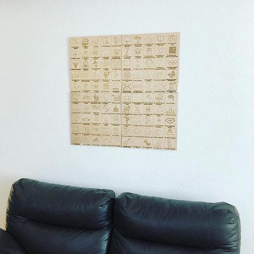 Wooden Travel Map World y Poster #100BucketList - Paquete