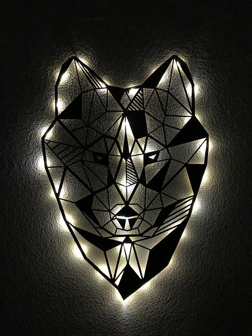 Cabeza de Lobo con led