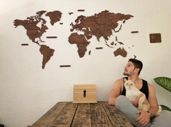 Wooden Travel Map