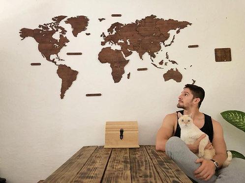 Wooden TM 2 Mapas Mundo y Mini México