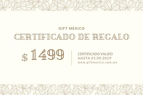 Certificado 1499 MXN