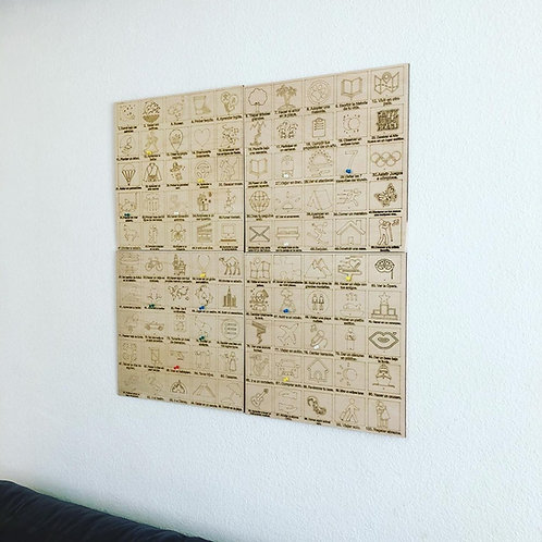 Wooden Poster #100 Bucketlist Life Edition