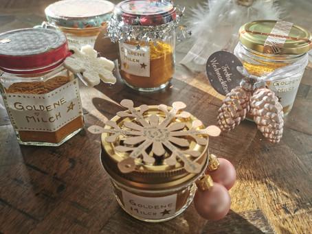 Goldene Milch - ein gesundes Weihnachtsgeschenk mit ayurvedischen Gewürzen