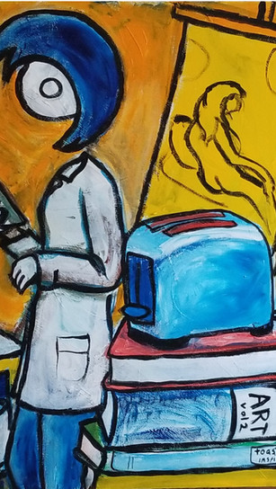 Herring, Richard - Toast and Inspiration - Acrylic on Canvas - 24 Inches x 20 Inches - $1,