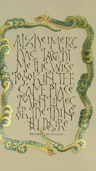 Gettler, Risa - What Alzheimer_s Has Taught Me - Gouache on Arches Text Wove - 14 Inches x