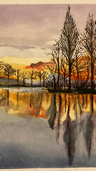 Vickers, Kelly - Lake - Watercolor on Paper - 5.5 Inches x 8.5 Inches - $100.jpg