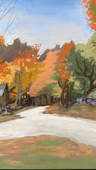 Askowitz, Bonnie Dubbin - Into the Woods NH - Pastel on Pastel Paper - 18.5 Inches x 22 In