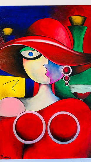 Cortez - Lady in Red - Acrylic on Canvas - 18 Inches x 24 Inches - $1,500.jpg
