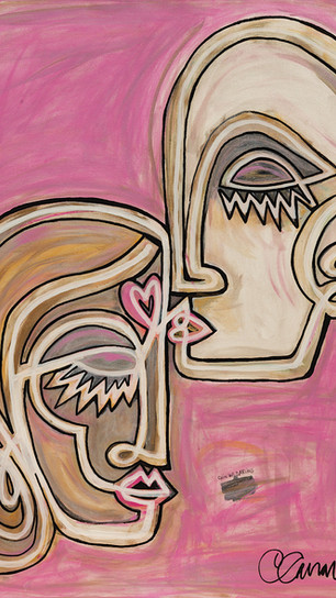 Canavero, Corinne - Chin Up, Darling - Acrylic on Canvas - 30 Inches x 24 Inches - $2,500.