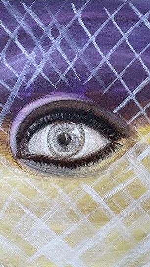 Temen, Jeni - No Matter What You Do, There is an Eye On You - Acrylic on Canvas - 16 Inche