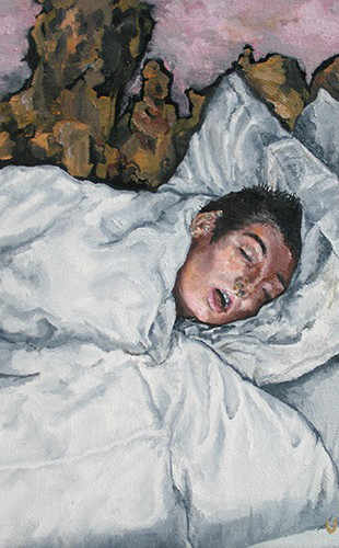 Madsen, Sooltan - Dreams of Solidarity - Oil on Canvas - 8 Inches x 8 Inches - $150.jpg