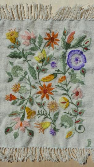 Brandtner-Martinez, Irene - Tropical Garden - Wool Yarn on Wool Groundcloth - 19 Inches x