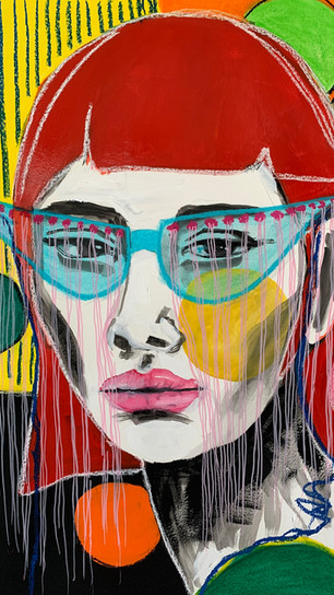 Sneeringer, Ana - See Through - Mix Media on Paper With Soft Pastel and Acrylic - 25 Inche