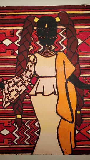 Aremu, AJ - Do Not Be the Enemy of Your Own Progress - Reductive Woodcut Print - 23 Inches