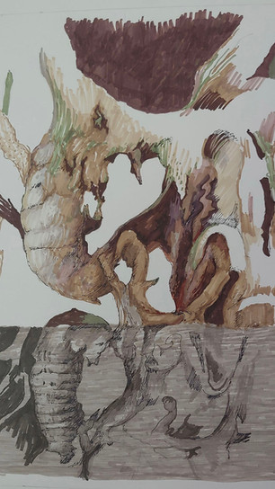 Schechter, Joel - In the Beginning - Colored Ink - 17 Inches x 17 Inches - $700.jpg