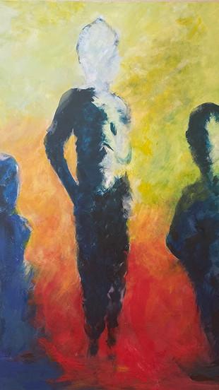 Rathi, Suchita - Hidden Figures - Acrylic on Canvas - 36 Inches x 36 Inches - $1,900.jpg