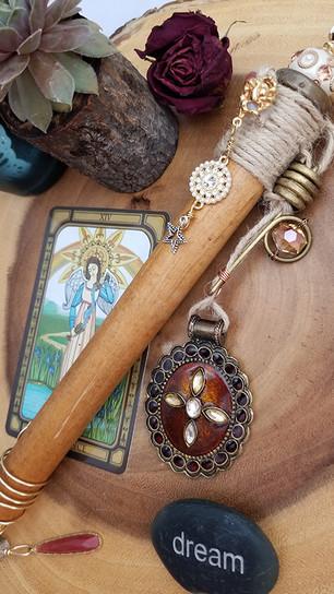 Seidel, Jeannie - High Priestess Magic Wand - 16 Inches x 2.5 Inches - $175.jpg