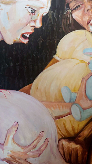 Shapiro, Caren Jo - Texas...Who_s Next_ - Oil on Canvas - 72 Inches x 60 Inches - $8,000.j