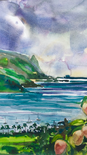 Renchler, Diane - Mangos in Hanalei - Watercolor - 16 Inches x 12 Inches - $850.jpg