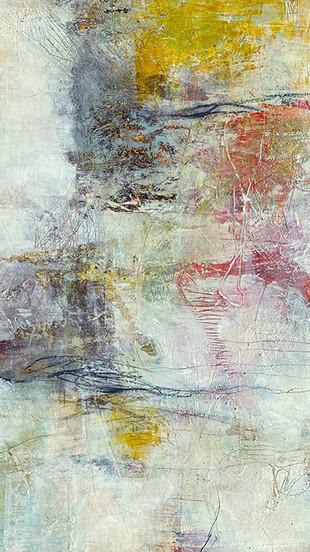 Lamarche, L Marie - Navigation I - Mixed Media-Oil, Charcoal, Wax Medium on Wood Panel - 1
